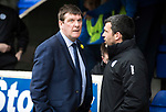 St Johnstone v Dundee…11.03.17     SPFL    McDiarmid Park<br />Tommy Wright and Callum Davidson<br />Picture by Graeme Hart.<br />Copyright Perthshire Picture Agency<br />Tel: 01738 623350  Mobile: 07990 594431