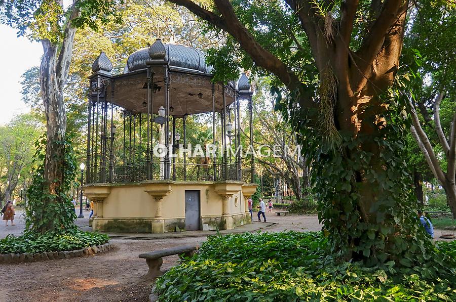 Coreto no Parque Jardim da Luz em São Paulo. 2021. Foto © Juca Martins.