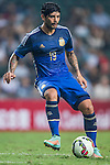 Ever Banega of Argentina in action during the HKFA Centennial Celebration Match between Hong Kong vs Argentina at the Hong Kong Stadium on 14th October 2014 in Hong Kong, China. Photo by Aitor Alcalde / Power Sport Images