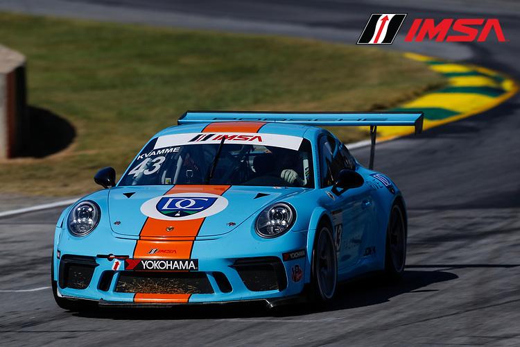 IMSA Porsche GT3 Cup Challenge USA<br /> Road Atlanta<br /> Road Atlanta, Braselton GA<br /> Friday 6 October 2017<br /> 43, Mark Kvamme, GT3P, USA, M, 2017 Porsche 991<br /> World Copyright: Jake Galstad<br /> LAT Images