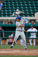 St. Lucie Mets Jeremy Vasquez (16) during a Florida State League game against the Lakeland Flying Tigers on April 24, 2019 at Publix Field at Joker Marchant Stadium in Lakeland, Florida.  Lakeland defeated St. Lucie 10-4.  (Mike Janes/Four Seam Images)