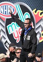 Feb. 24, 2013; Chandler, AZ, USA; NHRA funny car driver Jack Beckman during the Arizona Nationals at Firebird International Raceway. Mandatory Credit: Mark J. Rebilas-
