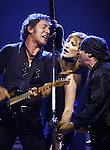 BRUCE SPRINGSTEEN , PATTI SCIALFA & LITTLE STEVEN VANZANDT-GIANTS STADIUM, EAST RUTHERFORD, NJ SUN AUG 31,2003...PHOTO: MARK R. SULLIVAN.(732) 840-2314