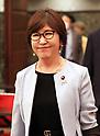 Tomomi Inada speaks at the Japan National Press Club