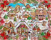 Lori, CHRISTMAS SYMBOLS, WEIHNACHTEN SYMBOLE, NAVIDAD SÍMBOLOS, paintings+++++Gingerbread Lane_5_72_10 in,USLS204,#xx#
