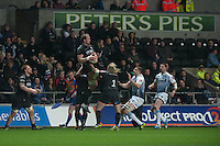 Friday 21 March 2014<br /> Pictured:<br /> Re: Rabo Direct PRO12 Match Ospreys vs Cardiff Blues at the Liberty Stadium, Swansea, Wales