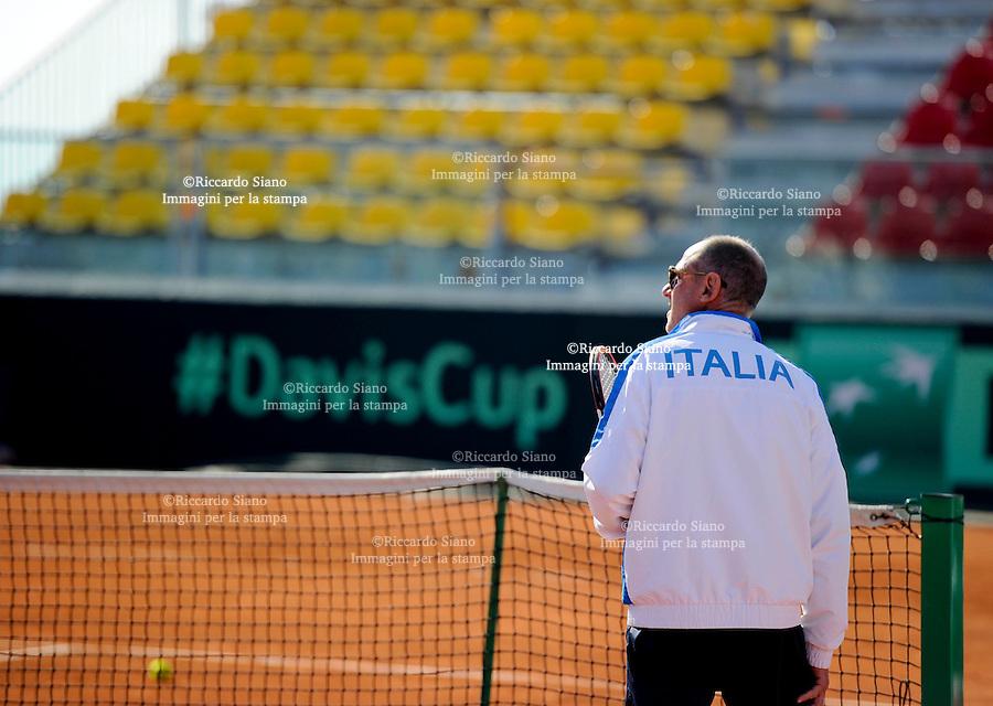 - NAPOLI 1 APR  2014 -  Coppa Davis  Italia-Gran Bretagna <br /> allenamenti