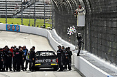 NASCAR Camping World Truck Series <br /> Texas Roadhouse 200<br /> Martinsville Speedway, Martinsville VA USA<br /> Saturday 28 October 2017<br /> Noah Gragson, Switch Toyota Tundra celebrates the win by climbing fence<br /> World Copyright: Scott R LePage<br /> LAT Images<br /> ref: Digital Image lepage-171028-mart-4532