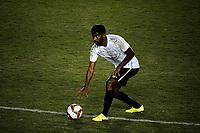 CAXIAS DO SUL, RS, 16.04.21 – CAXIAS – GREMIO - O jogador Tiago Santos, da equipe do Grêmio, na partida entre Caxias e Grêmio, válida pela primeira rodada, do Campeonato Gaúcho 2021, no estádio Centenário, em Caxias do Sul, nesta sexta-feira  (16).