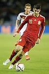 Spain's Alvaro Morata during international friendly match.November 18,2014. (ALTERPHOTOS/Acero)