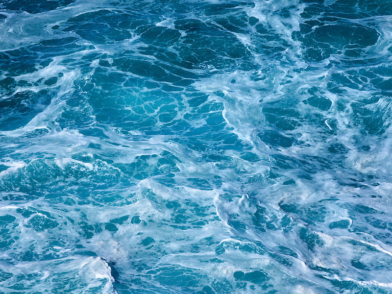 Close up of water on the Big Sur Coast. California