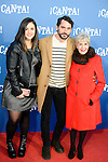 """Andrea Compton, Paco Leon and Concha Velasco attends to the premiere of the film """"¡Canta!"""" at Cines Capitol in Madrid, Spain. December 18, 2016. (ALTERPHOTOS/BorjaB.Hojas)"""