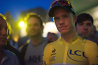 Chris Froome (GBR/SKY) post-race, ready to mount the podium<br /> <br /> Post-Tour Criterium Mechelen 2015