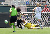 LA Sol goalkeeper Karina LeBlanc makes a save. The LA Sol defeated FC Gold Pride of the Bay Area 1-0 at Home Depot Center stadium in Carson, California on Sunday April 19, 2009.  ..  .