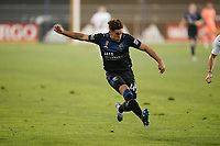 SAN JOSE, CA - SEPTEMBER 13: Cade Cowell #44 of the San Jose Earthquakes during a game between Los Angeles Galaxy and San Jose Earthquakes at Earthquakes Stadium on September 13, 2020 in San Jose, California.