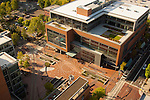 Aerial view of Portland State University's urban plaza.