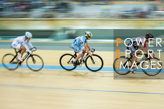 The warm-up session prior to the Hong Kong Track Cycling Race 2017 Series 6 at Hong Kong Velodrome on 12 March 2017, in Hong Kong, China. Photo by Marcio Rodrigo Machado / Power Sport Images