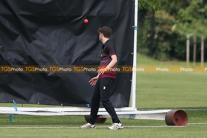 A six by P Gupta of Upminster hits the sight screen during Upminster CC vs Fives & Heronians CC, Hamro Foundation Essex League Cricket at Upminster Park on 5th June 2021