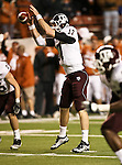 Texas A&M Aggies quarterback Ryan Tannehill (17) in action during the Texas A & M vs. Texas Longhorns football game at the Darrell K Royal - Texas Memorial Stadium in Austin, Tx. Texas A & M defeats Texas 24 to 17....