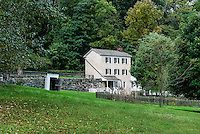 Preserved historic house, Hagley Museum, Wilmington, Delaware, USA