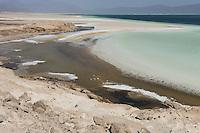 DJIBOUTI salt lake Lac Assal/ DSCHIBUTI, Salzsee Lac Assal