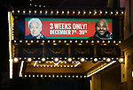 """Theatre Marquee for the Opening Night of """"Ruben & Clay's First Annual Christmas Show"""" starring Ruben Studdard and Clay Aiken on December 11, 2018 at the Imperial Theatre in New York City."""