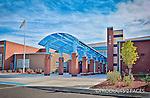 Belmont High School Entrance, Architectural detail