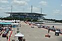 Coronavirus outbreak, Hardrock stadium Drive thru Test Site Miami Gardens, Florida