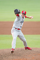 Lakewood BlueClaws relief pitcher Joe DeNato (2) in action against the Kannapolis Intimidators at CMC-NorthEast Stadium on July 20, 2014 in Kannapolis, North Carolina.  The Intimidators defeated the BlueClaws 7-6. (Brian Westerholt/Four Seam Images)