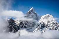 Ama Dablam as seen from Kongma La, Nepal.