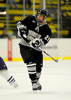 30 December 2007: Western Michigan University Broncos' left wing forward Mike Lesperance, a Senior from Newmarket, Ontario, in action against the Holy Cross Crusaders at Gutterson Fieldhouse in Burlington, Vermont. The teams skated to a 1-1 tie, however the Broncos took the consolation game in a 2-0 shootout to win the third game of the Sheraton/TD Banknorth Catamount Cup Tournament...Mandatory Photo Credit: Ed Wolfstein Photo