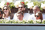 Real Madrid Basketball player Sergio Rodriguez (t-c) with his wife and Real Madrid Football players Pepe (t-r) and Toni Kroos with his wife during Madrid Open Tennis 2015 match.May, 7, 2015.(ALTERPHOTOS/Acero)