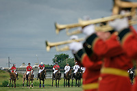 Gorky 2, Moscow Region, Russia, 01/07/2005..A military band plays before the beginning of the Russian Polo Cup 2006, organised by the Russian Federation of Polo Players.