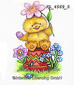 EASTER, OSTERN, PASCUA, paintings+++++,KL4569/5,#e#, EVERYDAY ,chicks,chicken ,sticker,stickers
