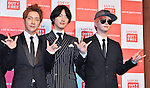 Yoonhak, Geoni and Sungje(Choshinsung, Supernova), Aug 30, 2013 : Tokyo, Japan : (L-R)Yunhak, Geonil and and Sungje of Korean boy band Supernova attend a press conference for new promotion video of Lotte Duty Free shop in Tokyo, Japan, on August 30, 2013.