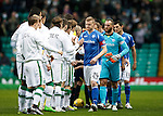 Celtic v St Johnstone...23.01.16   SPFL  Celtic Park, Glasgow<br /> Brian Easton led saints out at Celtic Park in the absence of Dave Mackay<br /> Picture by Graeme Hart.<br /> Copyright Perthshire Picture Agency<br /> Tel: 01738 623350  Mobile: 07990 594431