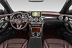Stock photo of straight dashboard view of 2016 Mercedes Benz GLC Launch Edition 5 Door Suv Dashboard