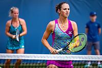 Den Bosch, Netherlands, 12 June, 2018, Tennis, Libema Open, Womans doubles: Bibiane Schoofs (NED) (R) and Richel Hogenkamp (NED)<br /> Photo: Henk Koster/tennisimages.com
