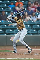 Brendon Davis (30) of the Down East Wood Ducks at bat against the Winston-Salem Dash at BB&T Ballpark on May 12, 2018 in Winston-Salem, North Carolina. The Wood Ducks defeated the Dash 7-5. (Brian Westerholt/Four Seam Images)