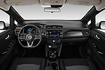 Stock photo of straight dashboard view of 2020 Nissan Leaf SV 5 Door Hatchback Dashboard