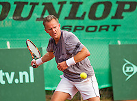 Netherlands, Amstelveen, August 21, 2015, Tennis,  National Veteran Championships, NVK, TV de Kegel,  Men's 50+, Charles Abramsen<br /> Photo: Tennisimages/Henk Koster