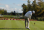 5 October 2008: Eventual winner Dustin Johnson hits a tee shot at the Par-3 16th hole during the final round at the Turning Stone Golf Championship in Verona, New York.