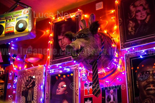 Wild boar's head in London's pub.<br /> <br /> London & Londoners 2016