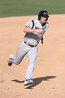 Kyle Gaedele (24) of the Lake Elsinore Storm runs the bases during a game against the Inland Empire 66ers at San Manuel Stadium on May 27, 2015 in San Bernardino, California. Lake Elsinore defeated Inland Empire, 12-9. (Larry Goren/Four Seam Images)
