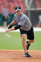 Birmingham Barons pitcher Wes Whisler gets some work in on the side at Hoover Metropolitan Stadium in Birmingham, AL, Saturday, August 19, 2006.