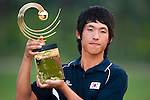 SHENZHEN, CHINA - NOVEMBER 01:  Chang-Won Han of South Korea poses with the trophy after winning the Asian Amateur Championship at the Mission Hills Golf Club on November 1, 2009 in Shenzhen, Guangdong, China.  (Photo by Victor Fraile/The Power of Sport Images) *** Local Caption *** Chang-Won Han