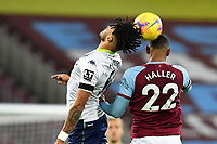Tyrone Mings of Aston Villa and Sebastien Haller of West Ham United during West Ham United vs Aston Villa, Premier League Football at The London Stadium on 30th November 2020