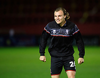 Lincoln City's Harry Anderson during the pre-match warm-up<br /> <br /> Photographer Chris Vaughan/CameraSport<br /> <br /> EFL Papa John's Trophy - Northern Section - Group E - Lincoln City v Manchester City U21 - Tuesday 17th November 2020 - LNER Stadium - Lincoln<br />  <br /> World Copyright © 2020 CameraSport. All rights reserved. 43 Linden Ave. Countesthorpe. Leicester. England. LE8 5PG - Tel: +44 (0) 116 277 4147 - admin@camerasport.com - www.camerasport.com