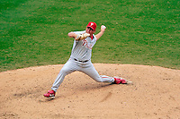 4 September 2005: Aaron Fultz, pitcher for the Philadelphia Phillies, on the mound against the Washington Nationals. The Nationals defeated the Phillies 6-1 at RFK Stadium in Washington, DC. Mandatory Photo Credit: Ed Wolfstein.