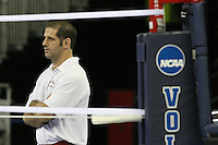 Omaha, NE - DECEMBER 20:  Athletic trainer Eitan Gelber of the Stanford Cardinal during Stanford's 2008 NCAA Division I Women's Volleyball Final Four Championship closed practice before playing the Penn State Nittany Lions on December 20, 2008 at the Qwest Center in Omaha, Nebraska.